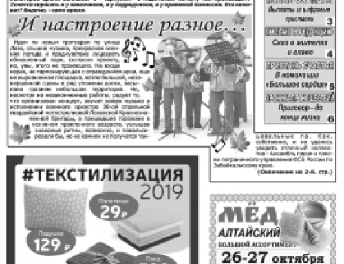 Газета «Борзя-Вести» (Борзя, Забайкальский край)