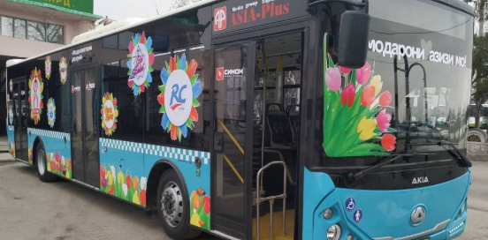 reklama avtobusy dushanbe tajikistan