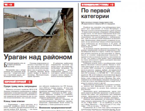 Газета «Правда Севера» (Кыштовка, Новосибирская область)
